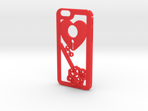 Key + Heart in Red Processed Versatile Plastic