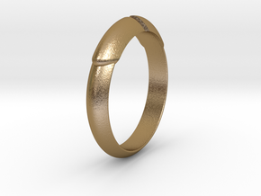 Arrow Ring Ø18.19 mm /Ø0.716 inch in Polished Gold Steel