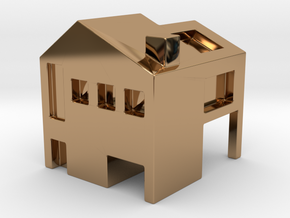Monopoly house in Polished Brass