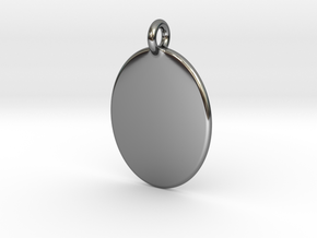 Thumb Print Base Pendant in Fine Detail Polished Silver
