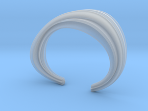 The Comfort Sculptural Cuff in Smooth Fine Detail Plastic