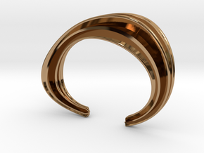 The Comfort Sculptural Cuff in Polished Brass