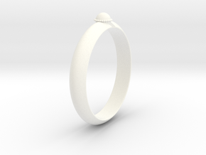 Ø18.19 mm /Ø0.716 inch Arrow Ring Style 2 in White Processed Versatile Plastic