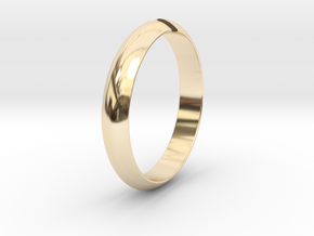 Ø18.19 mm /Ø0.716 inch Arrow Ring Style 1 in 14K Yellow Gold