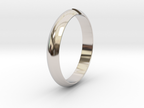 Ø18.19 mm /Ø0.716 inch Arrow Ring Style 1 in Rhodium Plated Brass
