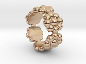 New Flower Ring 24 - Italian Size 24 in 14k Rose Gold Plated Brass