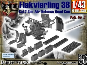 1-43 Flakvierling 38 in Smooth Fine Detail Plastic