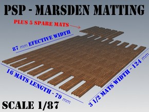 1-87 Marsden Matting Section in White Strong & Flexible