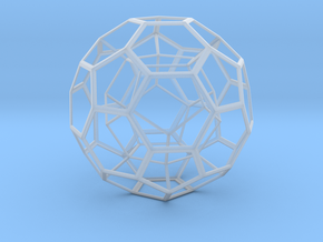 Dodecahedron in Truncated Icosahedron in Smooth Fine Detail Plastic