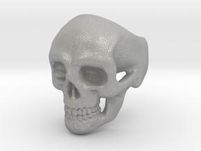 Skull Ring #9(US) in Aluminum