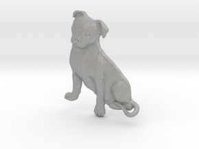 Staffordshire Bull Terrier Key Fob. in Aluminum