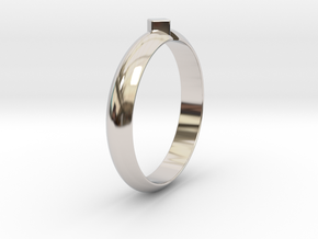 Ø18.19 Mm Design Special Arrow Ring/Ø0.716 inch in Platinum
