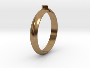 Ø18.19 Mm Design Special Arrow Ring/Ø0.716 inch in Natural Brass