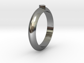 Ø18.35 Mm Functional Ring Style 1 Ø0.722 Inch in Polished Silver