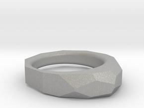 Decagon Faceted Ring 4.5 in Aluminum