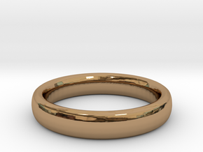 Simple Ring (Size 13) in Polished Brass