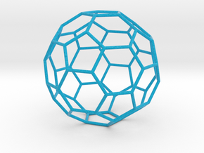 0476 Truncated Icosahedron E (11.0 см) #004 in Full Color Sandstone