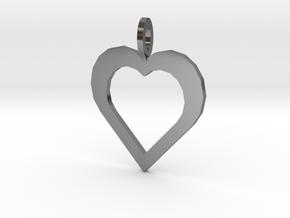 Kodas Heart in Fine Detail Polished Silver