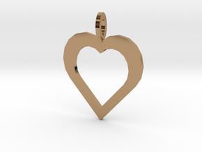 Kodas Heart in Polished Brass