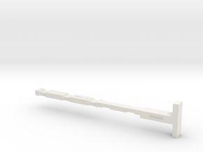 Trak-Edge in White Natural Versatile Plastic