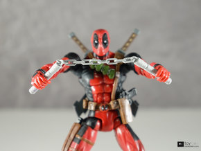 1:12 Nunchucks for Marvel Legends Deadpool in Polished Metallic Plastic