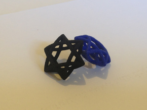 Star Of David earrings (pair) in Natural Silver