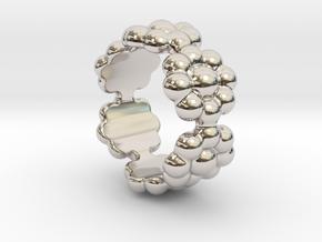 New Flower Ring 29 - Italian Size 29 in Platinum