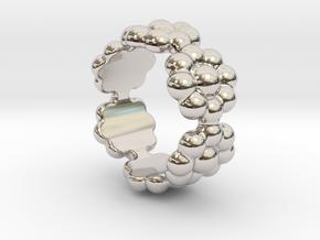 New Flower Ring 32 - Italian Size 32 in Platinum