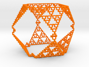 Sierpinski Menger Mix in Orange Processed Versatile Plastic