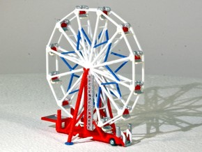"Ferris Wheel ""Big Eli NY5"" - 1:220 / 1:160 / 1:87 in White Natural Versatile Plastic: 1:220"