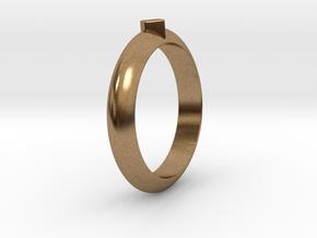 Ø21.87 Design Ring Ø0.861 inch in Natural Brass
