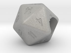"""Geek Beads"" 20 sided die in Aluminum"