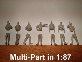 [1:87] Male set (multi-part) in Smooth Fine Detail Plastic