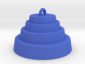 DRAW ornament - terraced dome in Blue Strong & Flexible Polished