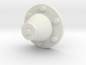 1/16 Churchill - Antenna Base - Antennensockel Kle in White Natural Versatile Plastic