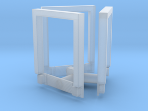3pkg - 8x10 Roll Up Door; Open w/Leveler - Surface in Smoothest Fine Detail Plastic