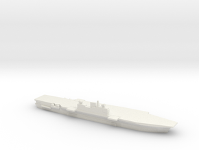 Malta-Class CV, Angled Deck, 1/1800 in White Natural Versatile Plastic
