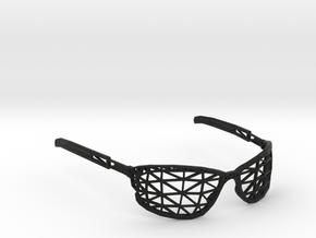 Wireframe Glasses in Black Natural Versatile Plastic