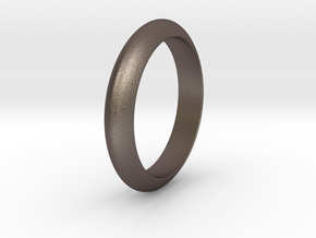Ø23.06 Mm Functional Design Ring Ø0.907 Inch in Polished Bronzed Silver Steel