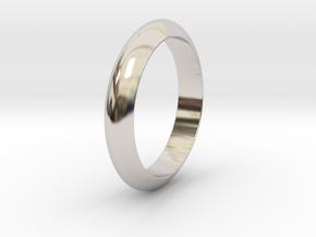 Ø23.06 Mm Functional Design Ring Ø0.907 Inch in Rhodium Plated Brass