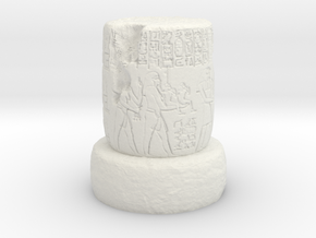 28mm/32mm Egyptian Column ruin in White Natural Versatile Plastic