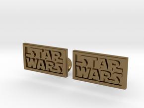 Starwars Cuffliinks in Polished Bronze