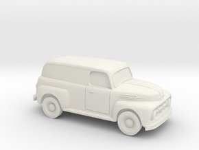 1/87 1952 Ford Panel Truck in White Natural Versatile Plastic
