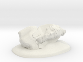 28mm/32mm Younger Memnon/Ramesses II/Ozymandias in White Natural Versatile Plastic