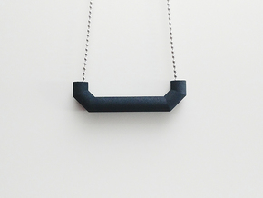Pipe Pendant N°5 in Black Natural Versatile Plastic