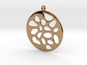 PENDANT LOBULAR in Polished Brass