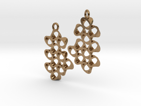 EARRINGS_Hyperloop_Small_Pair in Natural Brass
