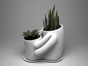 Embrace dual planter (small) in White Strong & Flexible