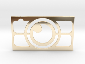Camera Business Card in 14K Yellow Gold