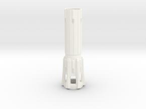 KR Lightsaber Body V5 in White Processed Versatile Plastic